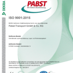 Rezert Zertifikat ISO 9001 2015