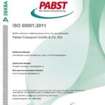 Zert Zertifikat ISO 50001 2011
